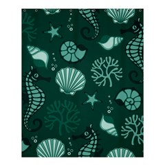 Vector Seamless Pattern With Sea Fauna Seaworld Shower Curtain 60  X 72  (medium)  by Mariart