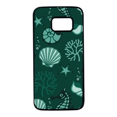 Vector Seamless Pattern With Sea Fauna Seaworld Samsung Galaxy S7 Black Seamless Case by Mariart