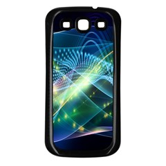 Waveslight Chevron Line Net Blue Samsung Galaxy S3 Back Case (black) by Mariart