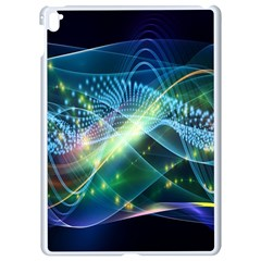 Waveslight Chevron Line Net Blue Apple Ipad Pro 9 7   White Seamless Case by Mariart