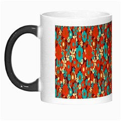 Surface Patterns Bright Flower Floral Sunflower Morph Mugs