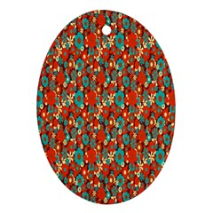 Surface Patterns Bright Flower Floral Sunflower Oval Ornament (two Sides) by Mariart