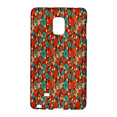Surface Patterns Bright Flower Floral Sunflower Galaxy Note Edge by Mariart