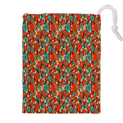 Surface Patterns Bright Flower Floral Sunflower Drawstring Pouches (xxl) by Mariart