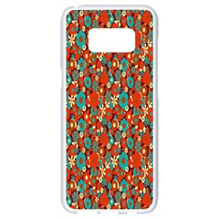 Surface Patterns Bright Flower Floral Sunflower Samsung Galaxy S8 White Seamless Case by Mariart