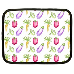 Vegetable Pattern Carrot Netbook Case (large)