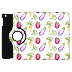 Vegetable Pattern Carrot Apple Ipad Mini Flip 360 Case by Mariart