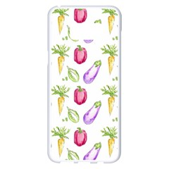 Vegetable Pattern Carrot Samsung Galaxy S8 Plus White Seamless Case by Mariart