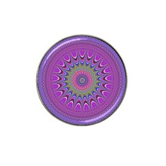 Art Mandala Design Ornament Flower Hat Clip Ball Marker by BangZart