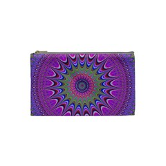 Art Mandala Design Ornament Flower Cosmetic Bag (small)  by BangZart