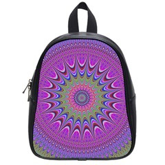 Art Mandala Design Ornament Flower School Bag (small)