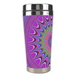 Art Mandala Design Ornament Flower Stainless Steel Travel Tumblers Left