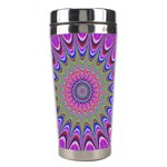 Art Mandala Design Ornament Flower Stainless Steel Travel Tumblers Center