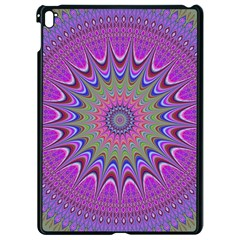 Art Mandala Design Ornament Flower Apple Ipad Pro 9 7   Black Seamless Case