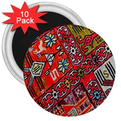 Carpet Orient Pattern 3  Magnets (10 Pack)  by BangZart
