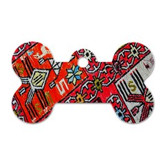 Carpet Orient Pattern Dog Tag Bone (one Side)