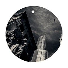 Chicago Skyline Tall Buildings Ornament (round)