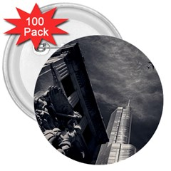 Chicago Skyline Tall Buildings 3  Buttons (100 Pack)