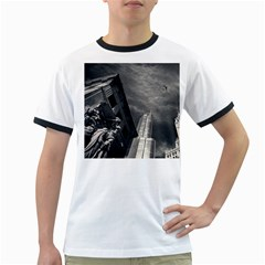 Chicago Skyline Tall Buildings Ringer T Shirts