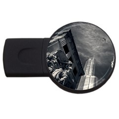 Chicago Skyline Tall Buildings Usb Flash Drive Round (4 Gb) by BangZart