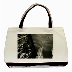 Chicago Skyline Tall Buildings Basic Tote Bag by BangZart