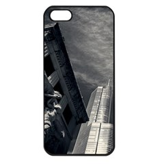 Chicago Skyline Tall Buildings Apple Iphone 5 Seamless Case (black) by BangZart