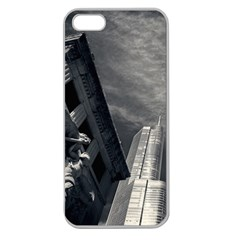Chicago Skyline Tall Buildings Apple Seamless Iphone 5 Case (clear) by BangZart