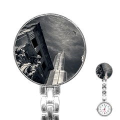 Chicago Skyline Tall Buildings Stainless Steel Nurses Watch by BangZart