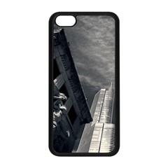 Chicago Skyline Tall Buildings Apple Iphone 5c Seamless Case (black) by BangZart