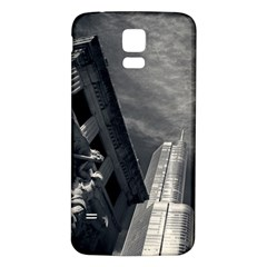 Chicago Skyline Tall Buildings Samsung Galaxy S5 Back Case (white) by BangZart