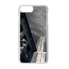 Chicago Skyline Tall Buildings Apple Iphone 7 Plus White Seamless Case by BangZart