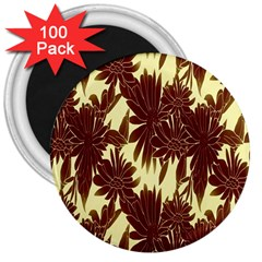 Floral Pattern Background 3  Magnets (100 Pack) by BangZart