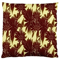 Floral Pattern Background Large Cushion Case (one Side) by BangZart