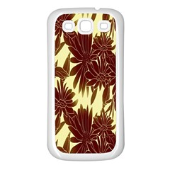 Floral Pattern Background Samsung Galaxy S3 Back Case (white) by BangZart