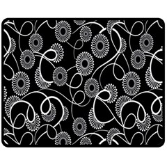 Floral Pattern Background Double Sided Fleece Blanket (medium)  by BangZart