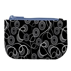 Floral Pattern Background Large Coin Purse
