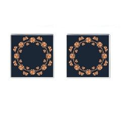 Floral Vintage Royal Frame Pattern Cufflinks (square) by BangZart