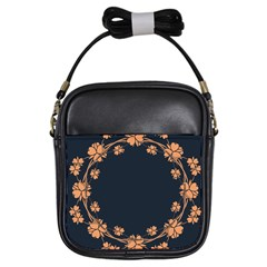 Floral Vintage Royal Frame Pattern Girls Sling Bags by BangZart