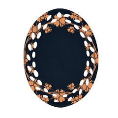 Floral Vintage Royal Frame Pattern Oval Filigree Ornament (two Sides) by BangZart