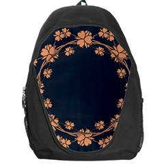 Floral Vintage Royal Frame Pattern Backpack Bag