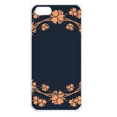 Floral Vintage Royal Frame Pattern Apple Iphone 5 Seamless Case (white) by BangZart