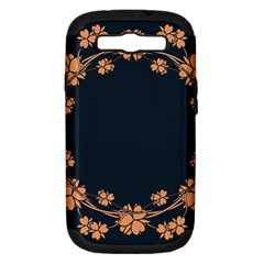 Floral Vintage Royal Frame Pattern Samsung Galaxy S Iii Hardshell Case (pc+silicone) by BangZart