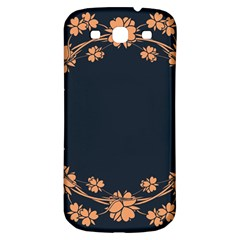 Floral Vintage Royal Frame Pattern Samsung Galaxy S3 S Iii Classic Hardshell Back Case by BangZart
