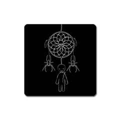 Voodoo Dream Catcher  Square Magnet by Valentinaart