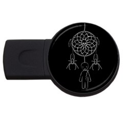 Voodoo Dream Catcher  Usb Flash Drive Round (2 Gb) by Valentinaart