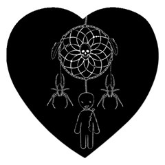 Voodoo Dream Catcher  Jigsaw Puzzle (heart) by Valentinaart