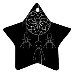 Voodoo Dream Catcher  Star Ornament (two Sides) by Valentinaart