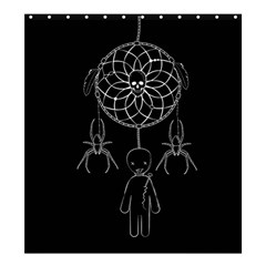 Voodoo Dream Catcher  Shower Curtain 66  X 72  (large)  by Valentinaart