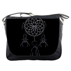 Voodoo Dream Catcher  Messenger Bags by Valentinaart
