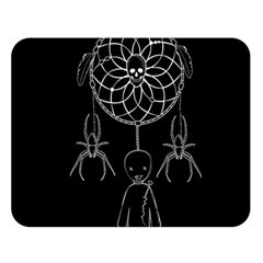 Voodoo Dream Catcher  Double Sided Flano Blanket (large)  by Valentinaart